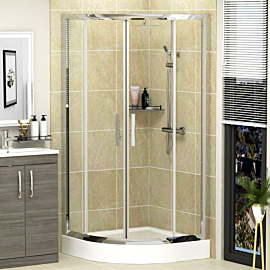 Imperial 6mm Quadrant Shower Enclosure with High Tray - Various Sizes