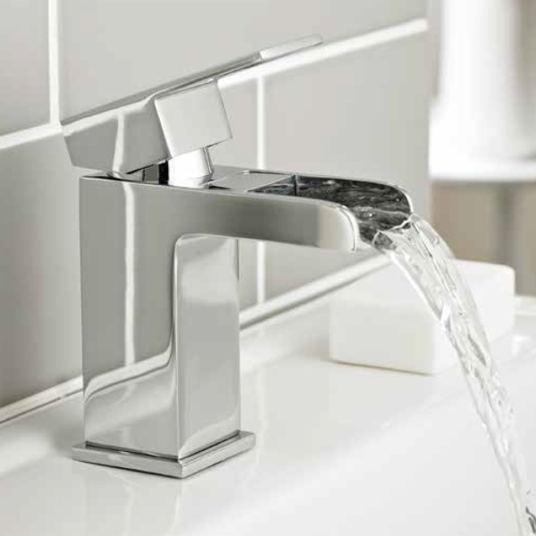 Kartell Phase Mono Basin Mixer Tap with Free Push Button Waste