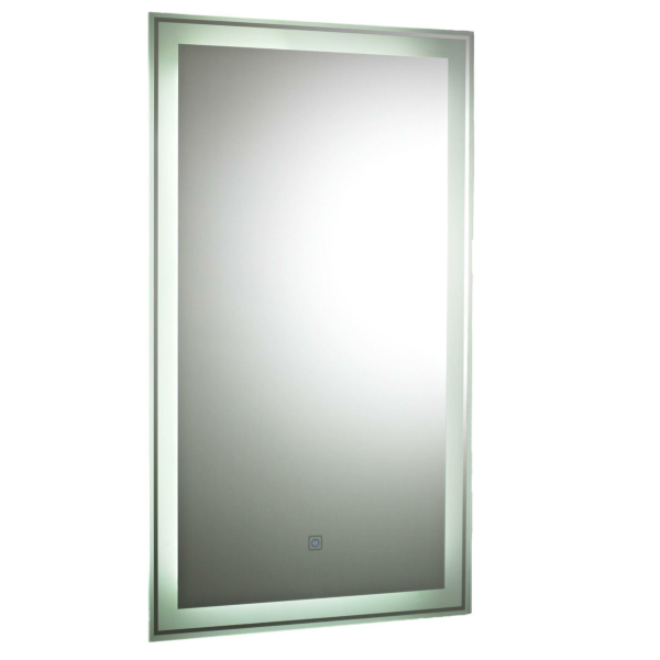 Glow 500mm Stainless Steel Touch Sensor Backlit Mirror
