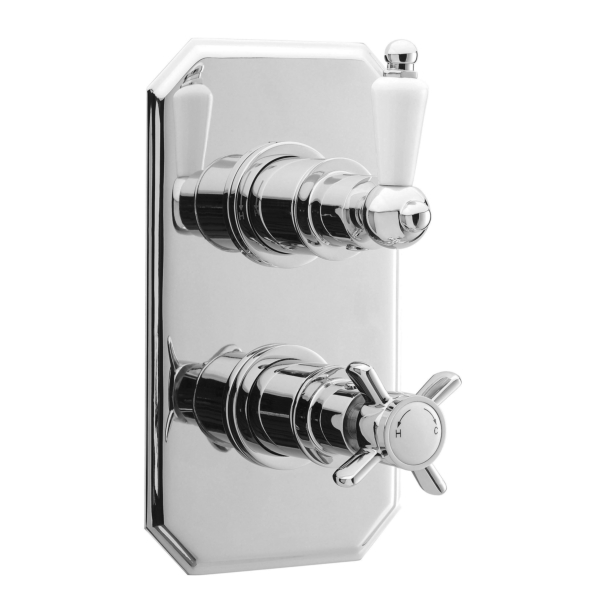 Premier Concealed  Twin Thermostatic Shower Valve