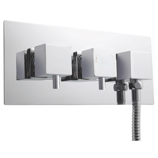 Premier Chrome Twin Thermostatic Shower Valve With Diverters
