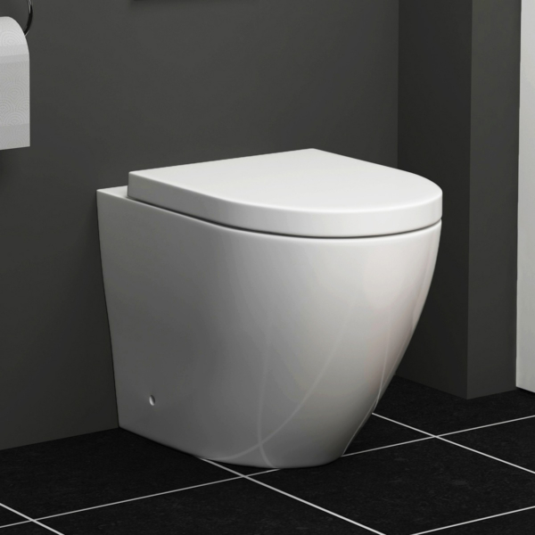 Abacus BTW Back to Wall Rimless Toilet with Soft Close Seat