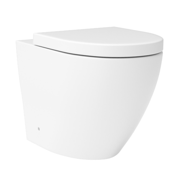 BTW Rimless Back to Wall Toilet with Soft Close Seat - Abacus