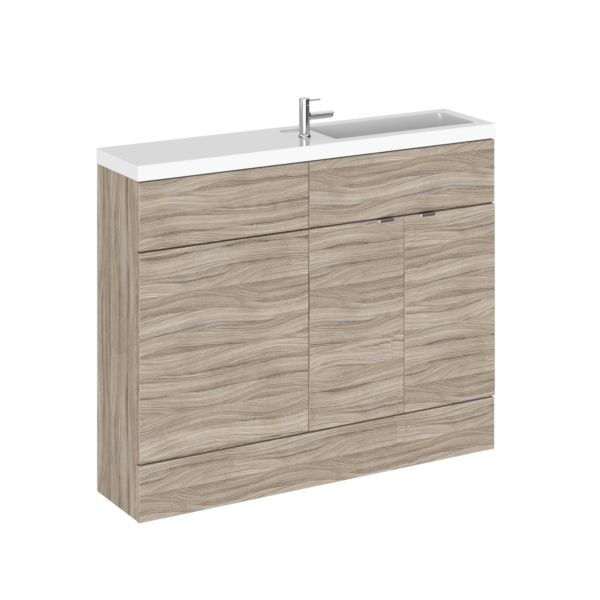 Hudson Reed 1100mm Driftwood Compact Slimline WC Combination Unit