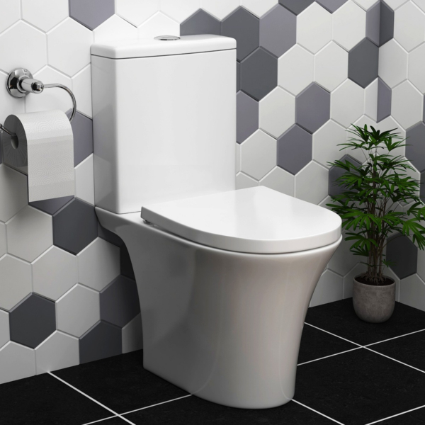 Amaze Rimless Close Coupled Toilet and Soft Close Seat with Cistern