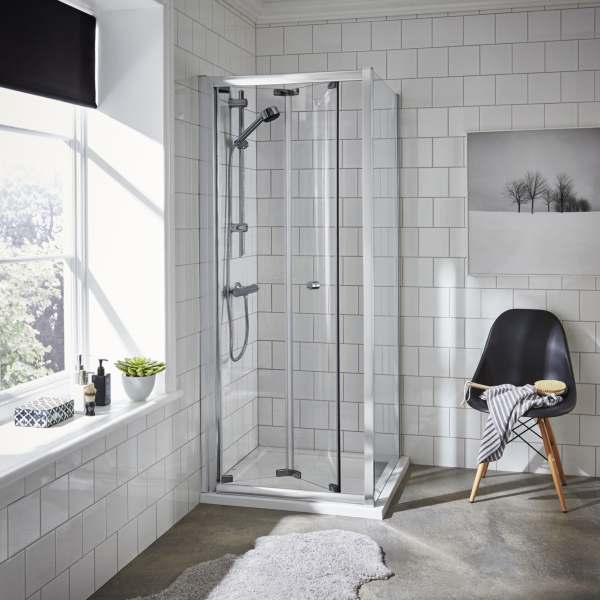 Ella 5mm Rectangular Bi-Fold Shower Enclosure - Various Sizes