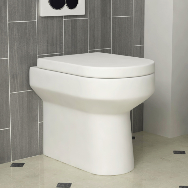 Icona Back to Wall Toilet Pan Unit with Soft Close Seat - Gloss White