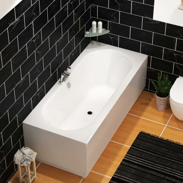 Elena Round Double Ended Bath 1700 x 700mm Acrylic + MDF Panels