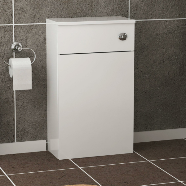 Turin 500mm Gloss White Back to Wall Toilet Unit
