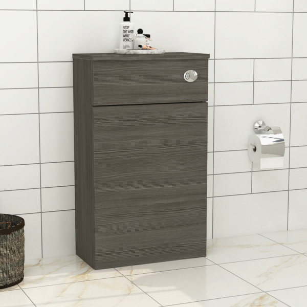 Turin 500mm Grey Elm Back to Wall Toilet Unit