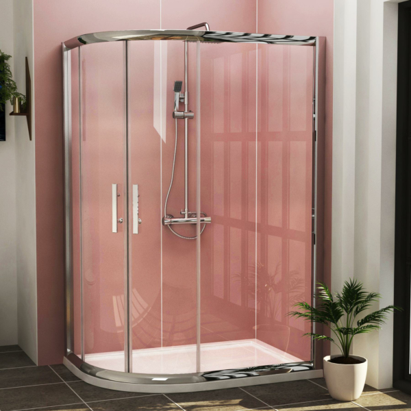 Imperial LH Offset Quadrant Shower Enclosure with Pearlstone Shower Tray