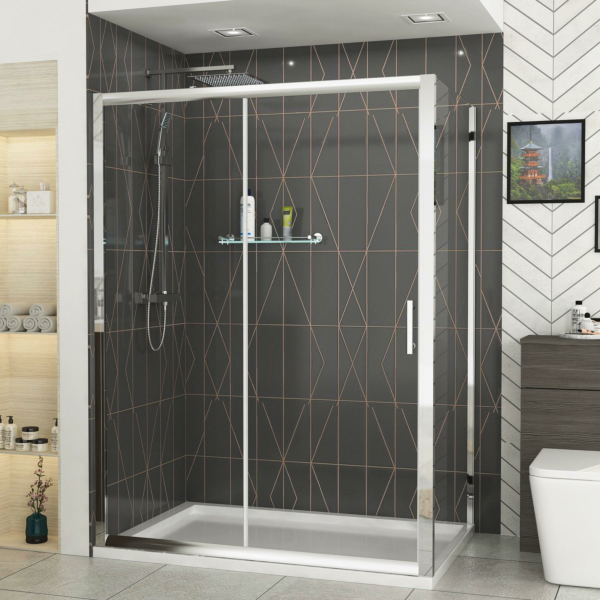 Grand 1200 x 760mm Sliding Door Rectangle Shower Enclosure 6mm