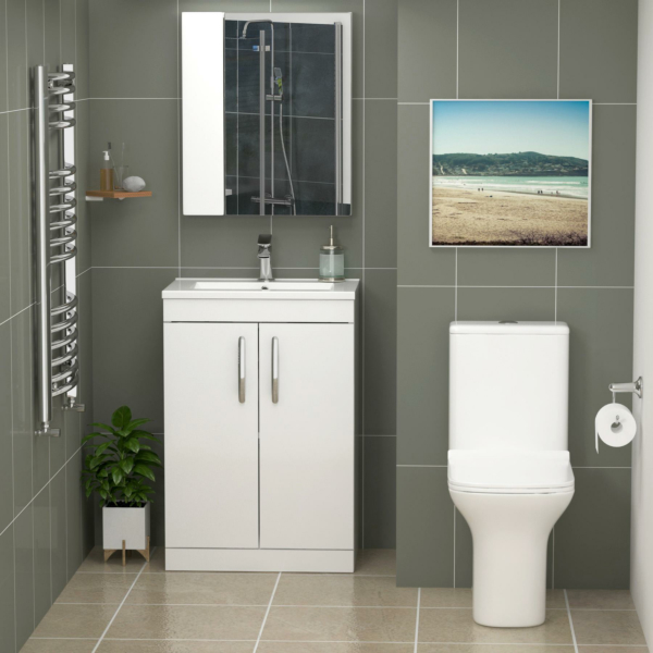 toilet and basin suite