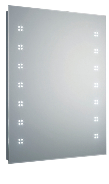 Lucid 600mm Chrome Wall Hung Led Mirror Cabinet