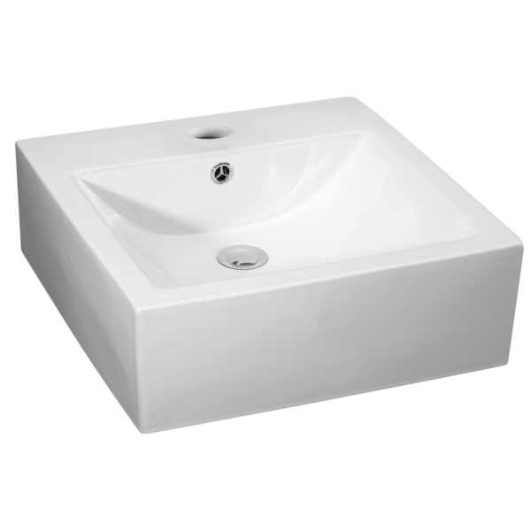 Square Counter Top Basin Vessels 470mm 1 Tap Hole