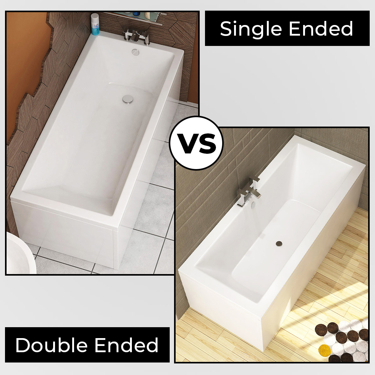 Everything you need to know about Single ended and Double Ended Baths